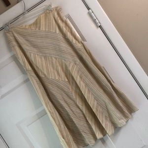 Fabulous bias cut linen skirt